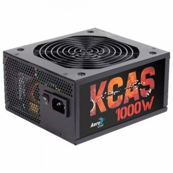 Блок питания Power Supply Aerocool KCAS-1000M, 1000W, ATX, APFC, 20+4 pin, 4+4pin, 10*Sata, 6*Molex, 1*FDD, 6*PCI-E 6+2 pin