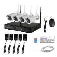 Комплект для видеонаблюдения wi-fi 4 камеры + регистратор HD NVR Kit