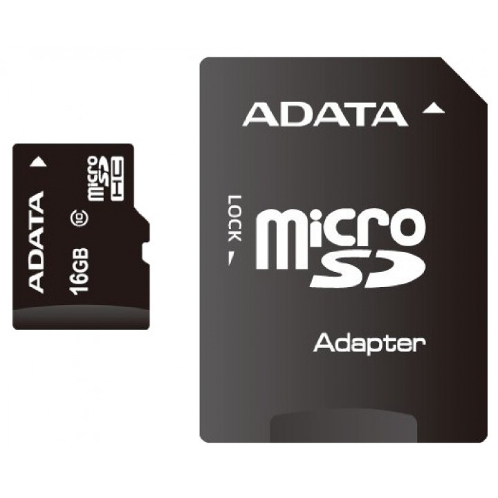 Карта памяти Micro Secure Digital Card (Trans Flash) 16GB HC10 adata+SD adapter