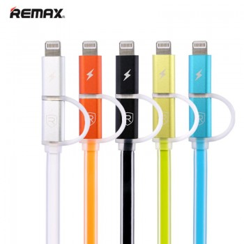 Кабель Remax 2 IN 1 Cable Aurora Cable USB